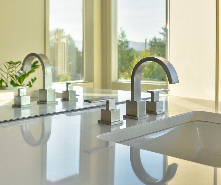 master bathroom sink in a newly constructed luxury home