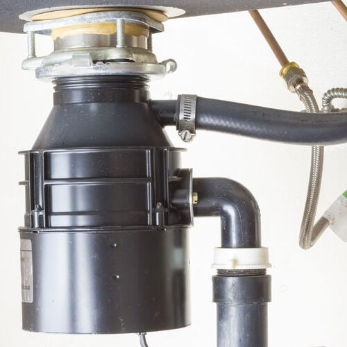 close up of a garbage disposal unit